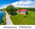 Single Farm House In A Rural...