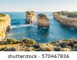 the twelve apostles with blue... | Shutterstock . vector #570467836