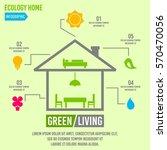 green living concept infographic | Shutterstock .eps vector #570470056