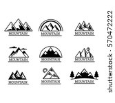 vector mountains icons isolated ... | Shutterstock .eps vector #570472222