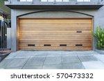 Brown Two Car Garage Door