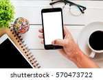 top view of people are using... | Shutterstock . vector #570473722