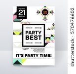 invitation disco party poster... | Shutterstock .eps vector #570476602