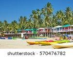 palolem beach southern goa ... | Shutterstock . vector #570476782