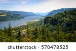 Lush Landscape of Columbia Gorge National Scenic Area