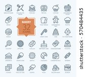 bakery icon set   outline icon... | Shutterstock .eps vector #570484435