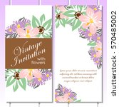 romantic invitation. wedding ...   Shutterstock .eps vector #570485002