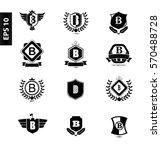 initial letter b black logo... | Shutterstock .eps vector #570488728