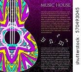 musical logo for information... | Shutterstock .eps vector #570493045