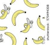 sweet bananas pattern | Shutterstock .eps vector #570494308