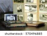 nostalgic old family photo... | Shutterstock . vector #570496885