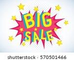 vector stock of comic explosion ... | Shutterstock .eps vector #570501466