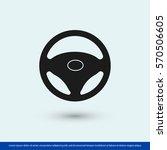 steering wheel icon. one of set ... | Shutterstock .eps vector #570506605