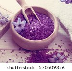composition of spa treatment on ... | Shutterstock . vector #570509356