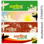 set of surfing banners | Shutterstock .eps vector #57050971