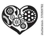black mechanism heart   cog...   Shutterstock .eps vector #570509782