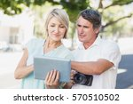 couple using digital computer... | Shutterstock . vector #570510502