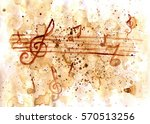 grunge paper with coffee stains ... | Shutterstock . vector #570513256