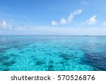 Beautiful Blue Ocean With...