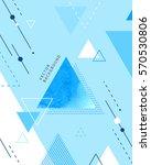geometry background illustration | Shutterstock .eps vector #570530806