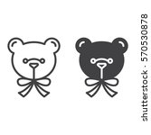 teddy bear line and solid icon  ...   Shutterstock .eps vector #570530878