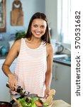 portrait of happy woman... | Shutterstock . vector #570531682