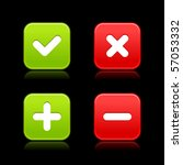 4 web 2.0 buttons of validation ... | Shutterstock .eps vector #57053332
