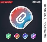 clip icon. button with clip...