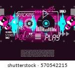 music vintage grange retro... | Shutterstock .eps vector #570542215