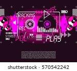 music vintage grange retro... | Shutterstock .eps vector #570542242