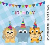 baby birthday | Shutterstock .eps vector #570557608