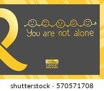 international childhood cancer... | Shutterstock .eps vector #570571708