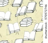 seamless pattern with books | Shutterstock . vector #570572746