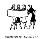singing quartet   retro clip art | Shutterstock .eps vector #57057727