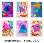 colorful trendy neo memphis... | Shutterstock .eps vector #570579472