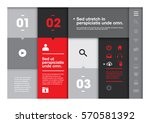 vector of modern info graphics... | Shutterstock .eps vector #570581392