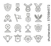 award and prize icons set line... | Shutterstock .eps vector #570584572