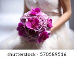 Orchid And Roses Wedding Bouquet