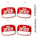 best price signs set with empty ... | Shutterstock .eps vector #57059077