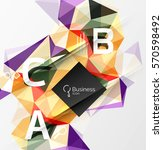 mosaic low poly abstract... | Shutterstock .eps vector #570598492