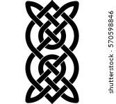 celtic pattern. element of... | Shutterstock .eps vector #570598846