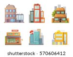 flat design of retro and modern ... | Shutterstock .eps vector #570606412