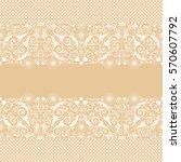 vector vintage floral ... | Shutterstock .eps vector #570607792
