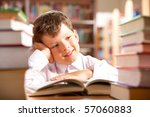 portrait of smiling schoolboy... | Shutterstock . vector #57060883
