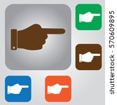 pointing hand icon. one finger... | Shutterstock .eps vector #570609895