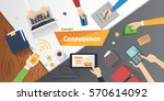 business conference or meeting... | Shutterstock .eps vector #570614092