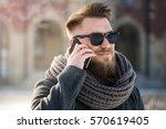 winter man's portraiture | Shutterstock . vector #570619405