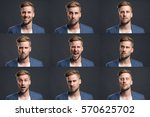 man with different emotions | Shutterstock . vector #570625702