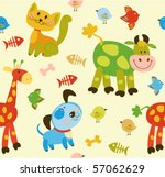 seamless baby background | Shutterstock .eps vector #57062629
