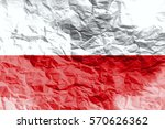 monaco national flag 3d... | Shutterstock . vector #570626362